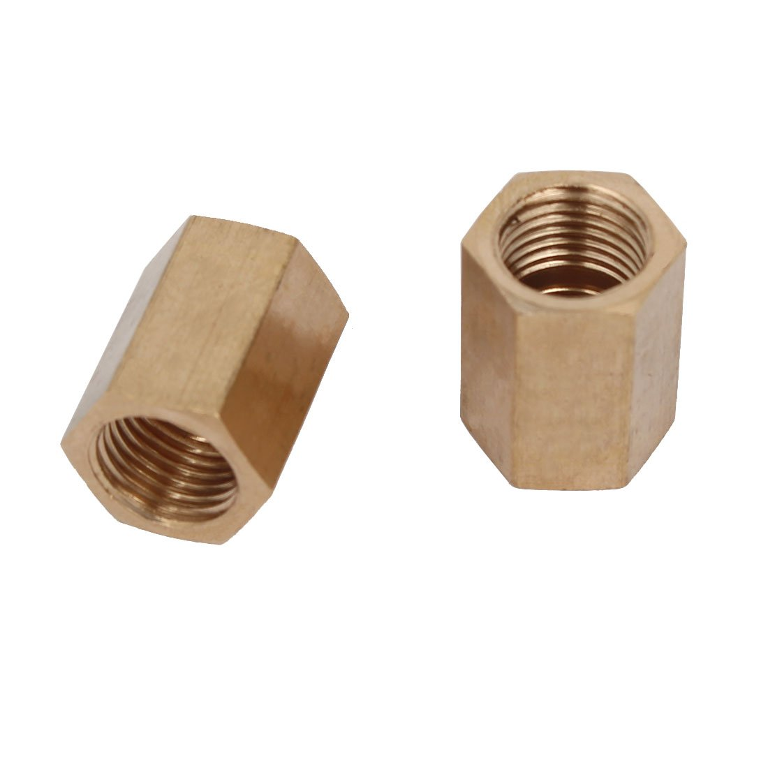 uxcell 1//4BSP Female Thread Straight Hex Fitting Rod Coupling Nut Brass Tone 2pcs a17011000ux0312