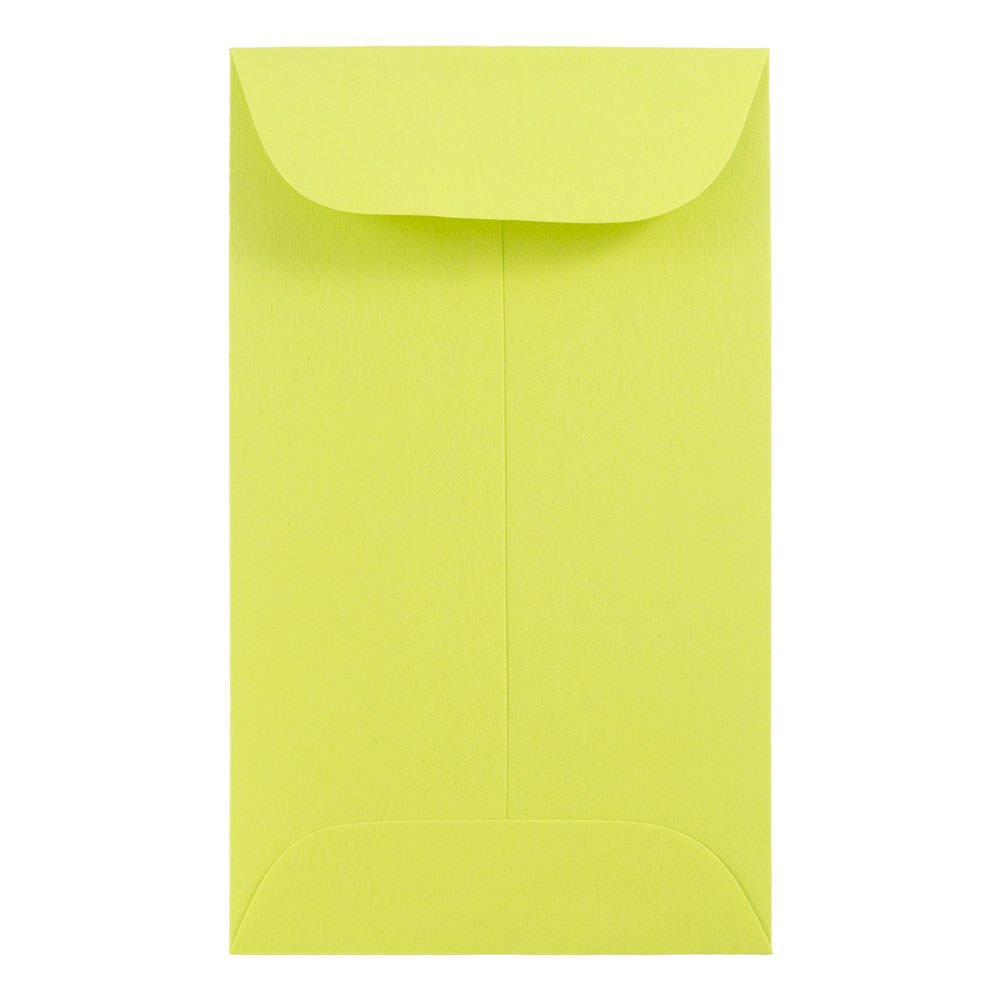 Assorted Colors 2 1//2 x 4 1//4 150//Pack JAM PAPER #3 Coin Business Colored Envelopes