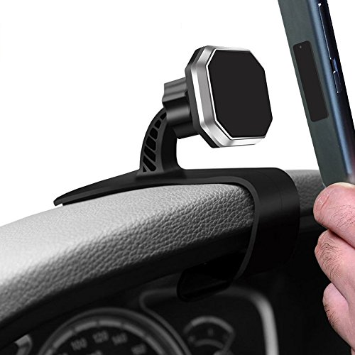 Car Phone Mount,Linycase Magnetic Car Phone Mount,Adjustable Dashboard Phone Holder with Strong Magnet for iPhone 8/8Plus/X,Samsung Galaxy S8/Note 8,Google Pixel, LG,Huawei