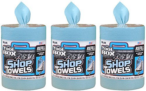 Sellars 5520701 ToolBox 200 Count Shop Towels Refill - Quantity 3