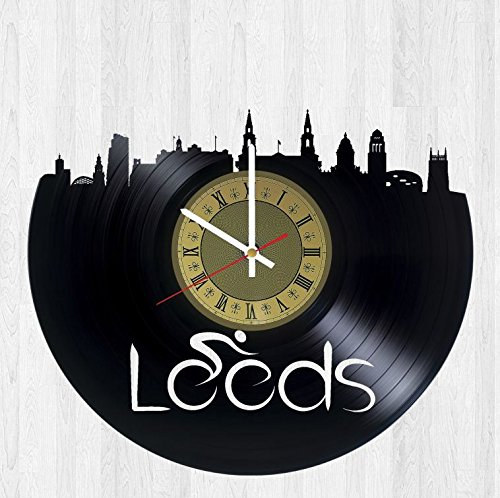 Leeds Yorkshire vinyl wall clock - handmade unique artwork home bedroom living kids room nursery wall decor great gifts idea for birthday, wedding, anniversary - customize your (Leeds Clock)