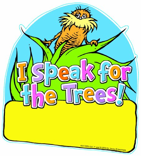 Eureka The Lorax Project I Speak for the Trees 5-Inch Paper Cut-Outs, Package of 36 (The Lorax Project)