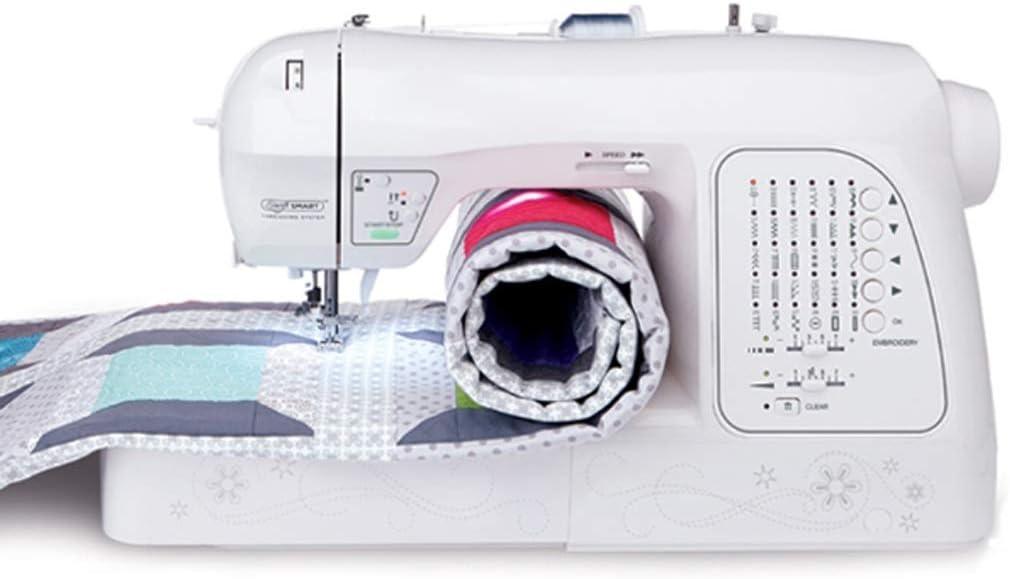 Zcyg Maquina de Coser portatil de Mano Inicio electrónica multifunción de Escritorio de Coser del Bordado de la máquina con la Cerradura Edge 2 Velocidad 30 Puntadas Pespunte