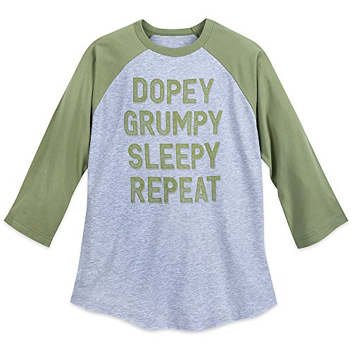 Disney Dopey Grumpy Sleepy repeat'' T-Shirt For Adults - Snow White and The Seven Dwarfs Size Mens XL (Dwarf Magic)