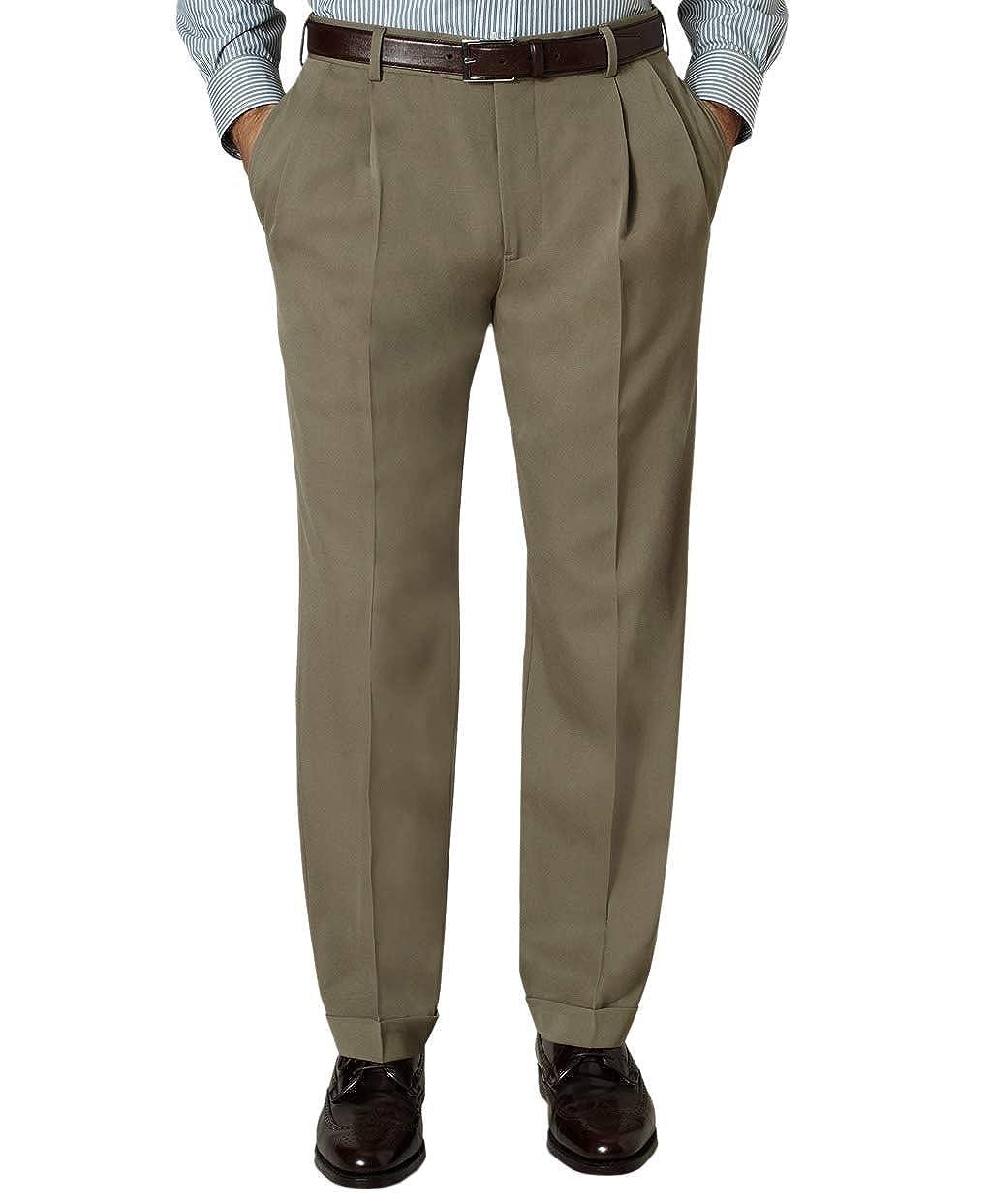 Brooks Brothers 1818 Mens Regent Fit Pleated Cuffed Hem 100/% Wool Lightweight Dress Pants Brittish Tan