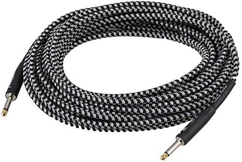 10 m cable de conexión de instrumento Cable para guitarra ...
