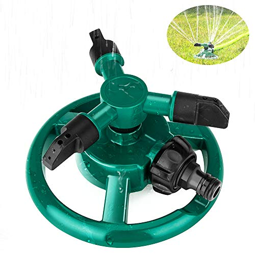Coquimbo Garden Sprinkler Automatic Garden Water Sprinklers 360° Rotating Lawn Sprinkler for Lawns Irrigation, Plant Watering and Kids Play (Round)