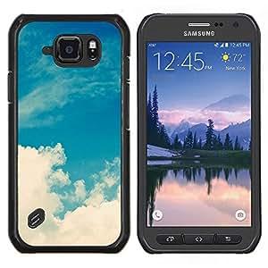Stuss Case / Funda Carcasa protectora - Nubes Blancas naturaleza Cielo Dios - Samsung Galaxy S6 Active G890A