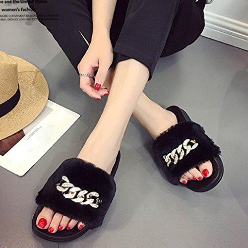Donna Black Pantofole Hunpta Hunpta Pantofole qw1R44