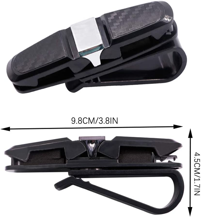 Clip per Accessori per Visiera Parasole Interna per Auto 4 Pezzi per Organizzare Occhiali e Carte Porta Occhiali Visiera Parasole per Auto Elinala Portaocchiali Auto