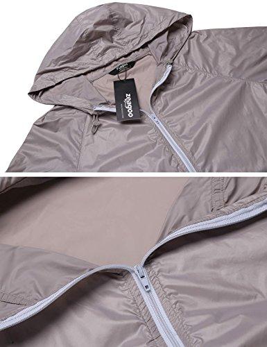 Fashion4ol Rapido Leggero Sportiva Uv Zip Pelle Donne Anti Solida Di Rivestimento Nebbia Incappucciato Esterna Sottile Grigio Asciutto Fino wrAqwx