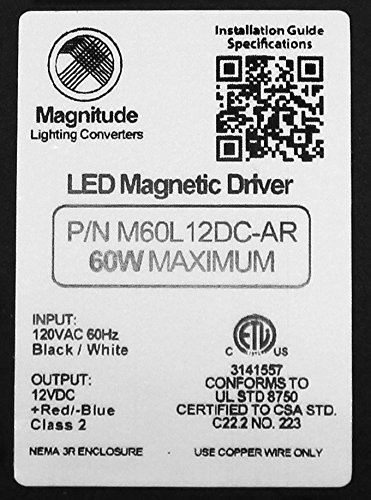 12V Magnitude Magnetic Dimmable LED Driver Transformer Hardwired Under Cabinet Lighting 60 Watt - Inspired LED by Inspired LED (Image #3)