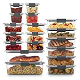 Rubbermaid Brilliance Storage 44-Piece Plastic Lids   BPA Free, Leak Proof Food Container, Clear