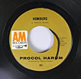 Procol Harum 45 RPM Homburg / Good Captain Clack
