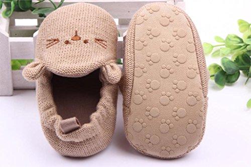 sypure (TM) recién nacido zapatos de bebé Infant Toddler Cute ratón de punto zapatos suela suave primera caminantes para niño niña 0–18meses