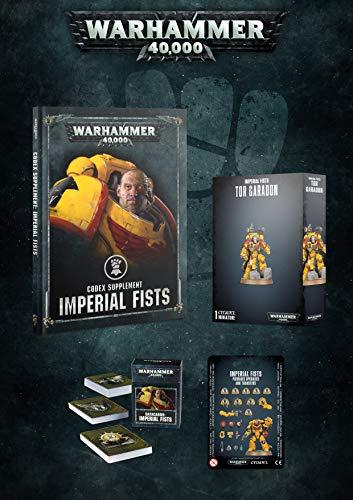 [해외]Warhammer 40k Imperial Fists Exclusive Bundle: Tor Garadon Codex Cards & Upgrades / Warhammer 40k Imperial Fists Exclusive Bundle: Tor Garadon, Codex, Cards, & Upgrades