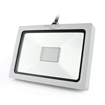 Auralum® Proyector LED 20W Lámpara Foco Energía Económico para Iluminación Exterior y Interior Impermeable IP65 Bajo Consumo de Energía y Alto Brillo Larga ...