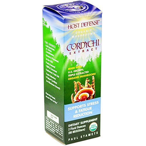 Host Defense - CordyChi Extract, Supports Stress & Fatigue Reduction, 60 Servings (2 oz) by Host Defense