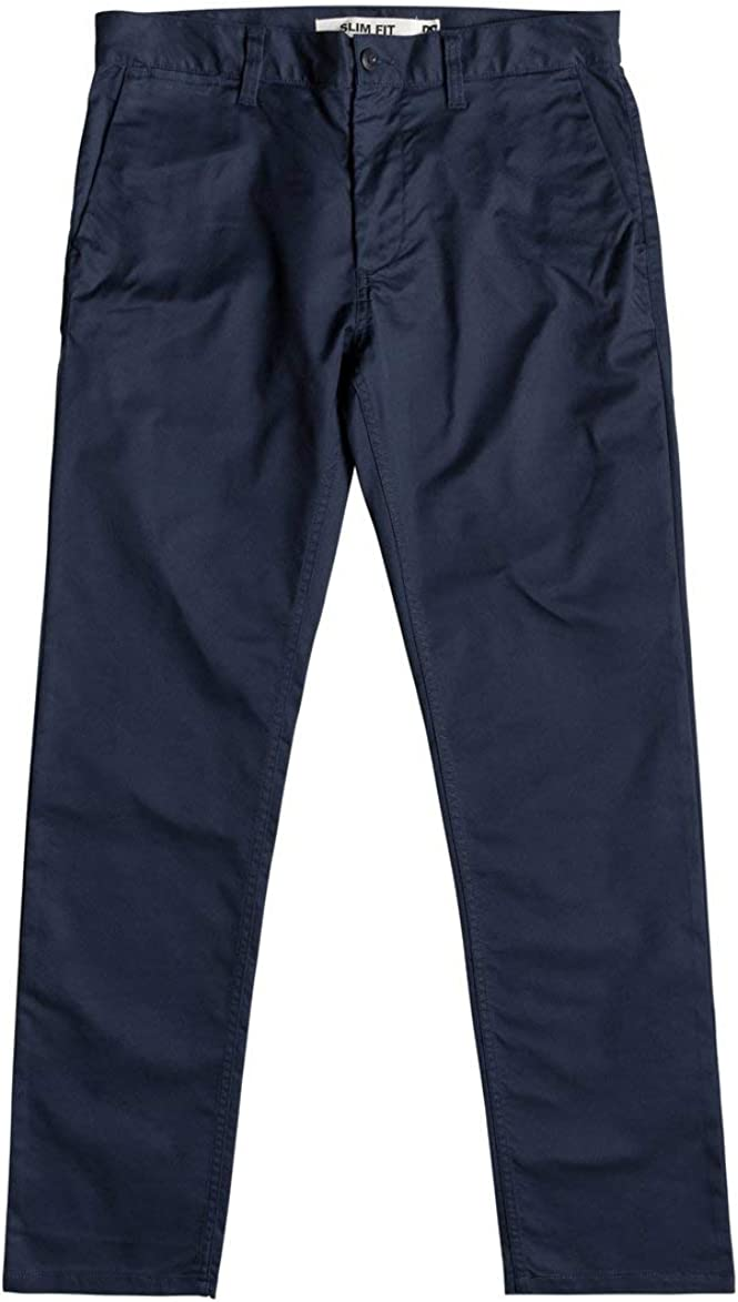 DC Shoes Mens Shoes Worker Slim Fit Chinos Edynp03135