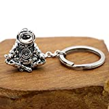 VT BigHome Keychain Galaxy Universe Meditation Spaceman Key Chains Stainless Steel Rings Chains Personalised Creative Car Keyring