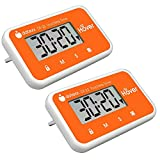 The Miracle Hover Kitchen Timer - Touchless Digital Countdown Timer, Hands-Free Control, Set of 2 Orange