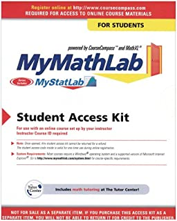 Mymathlab student access kit hall h pearson education my mathlab student version 4th edition fandeluxe Image collections