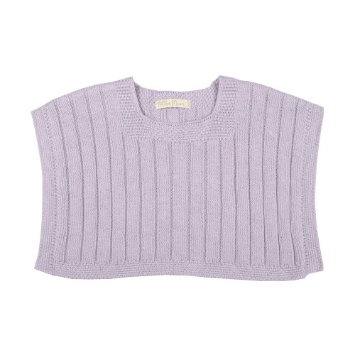 Toffee Moon Baby Girls Lavender Ribbed Poncho Cotton Garment