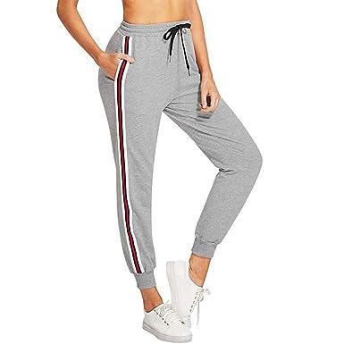 reputable site 3b8a0 eb25c Sport Leggins Damen, Streifen Casual Jogginghose Damen Gym ...