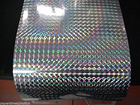 """Long-Life Silver Holographic 1//4/"""" Mosaic PRISM Sign Vinyl 24 inch x 30 feet"""