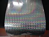 Roll of Prism Sign Vinyl, Holographic 1/4'' Mosaic, Self-Adhesive (24 inch x 30 feet, Silver)