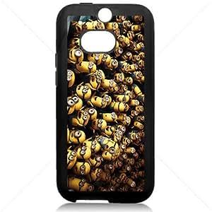 Cute Minions For 2014 NEW HTC ONE 2 M8 TPU Black or White case (Black)