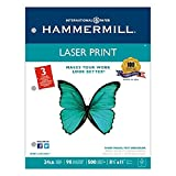 NEW - Laser Print Office Paper, 3-Hole Punch, 98 Brightness, 24lb, Ltr, White, 500/Rm - 107681