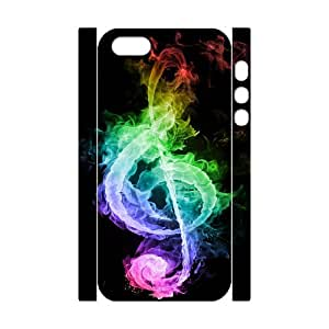 Iphone 5/5S Case 3D, Colorful Musical Note of Smoke Case for Iphone 5/5S white lm5s176911