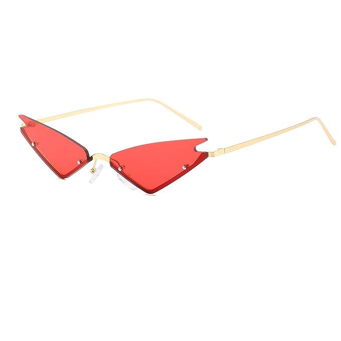 3870e61f8ae0 Amazon.com: FAGUMA Small Cat Eye Sunglasses For Women Fashion Semi ...