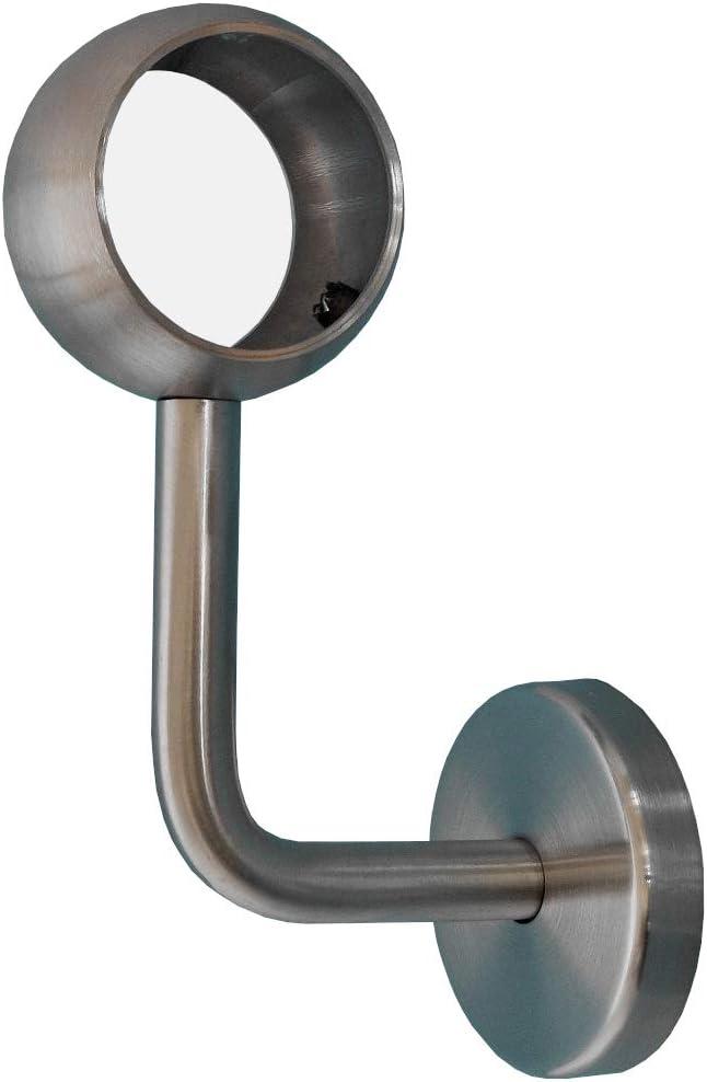 300 mm 30 cm 0,3 m Enden Edelstahl Bogen Montagefertiger Ami Nussbaum Handlauf Gel/änder lackiert /Ø 42 mm mit montierten Edelstahl Endst/ücken ohne Halter L/änge