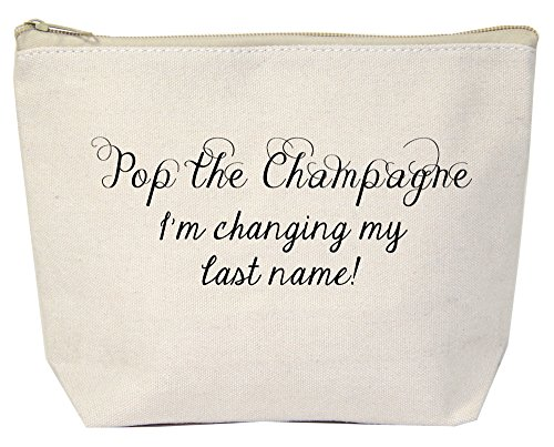 Jules Natural Canvas Tote Bag With Zipper Closure Pop The Champagne I'm Changing My Last Name