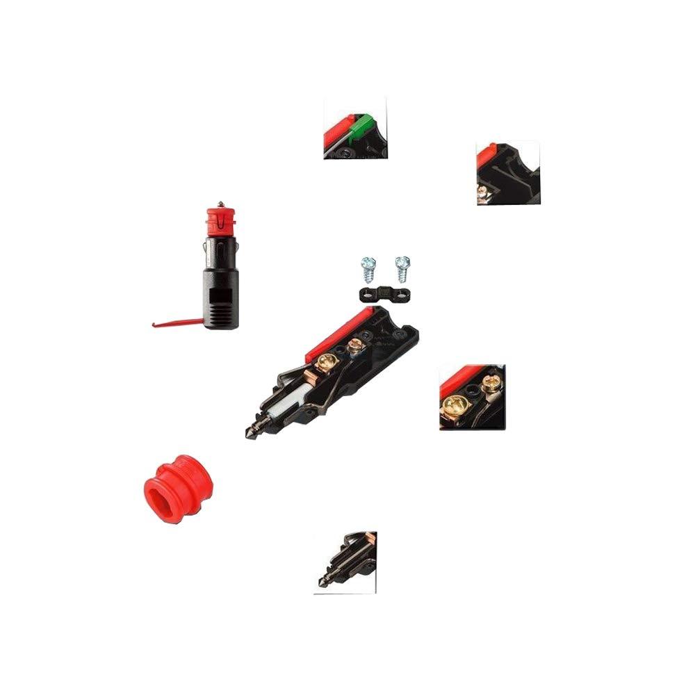 Noir Pro Car Triple Prise Encastrable avec C/âble 16 A