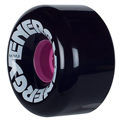 Radar Wheels - Energy 65 - Roller Skate Wheels - 4 Pack of 78A 35mm x 65mm Quad Skate Wheels   Black