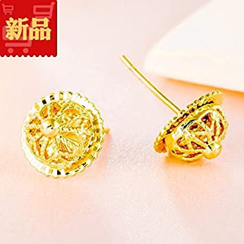 Amazoncom Vietnam alluvial gold hypoallergenic earrings rose gold