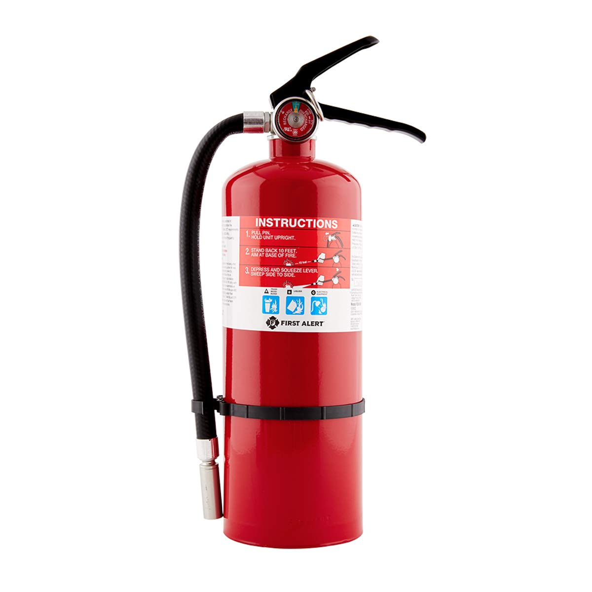 First Alert Fire Extinguisher Large Home Fire Extinguisher, Red, FE2A10GR