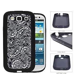 Black and White Bandana Paisley Design Pattern Hard pc pc Phone Case Cover Samsung Galaxy S3 I9300