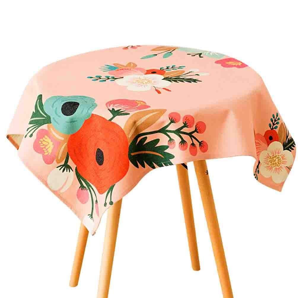 QYM 牧歌的な生地布テーブルクロスクリエイティブコーヒーテーブル防塵布ダイニングテーブルクロス (Color : C)  C B07S7NBK6N
