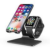 Apple Watch Stand, OMOTON 2 in 1 Universal Desktop Stand...