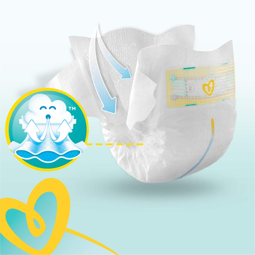240 Nappies Soft Comfort Approved by British Skin Foundation Pampers Premium Protection Size 2 Monthly Saving Pack 4-8 kg