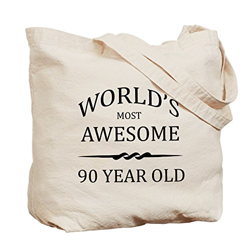CafePress Unique Design World's Most Awesome 90 Year Old Tote Bag - by CafePress