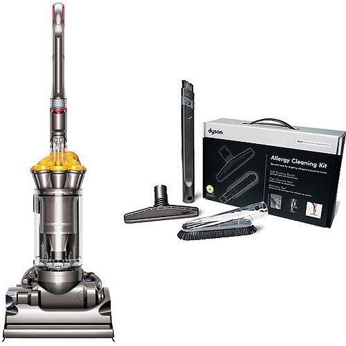 Dyson Dc33 Multi Floor Bagless Upright Vacuum with Your Choice Of Cleaning Kit Bundle
