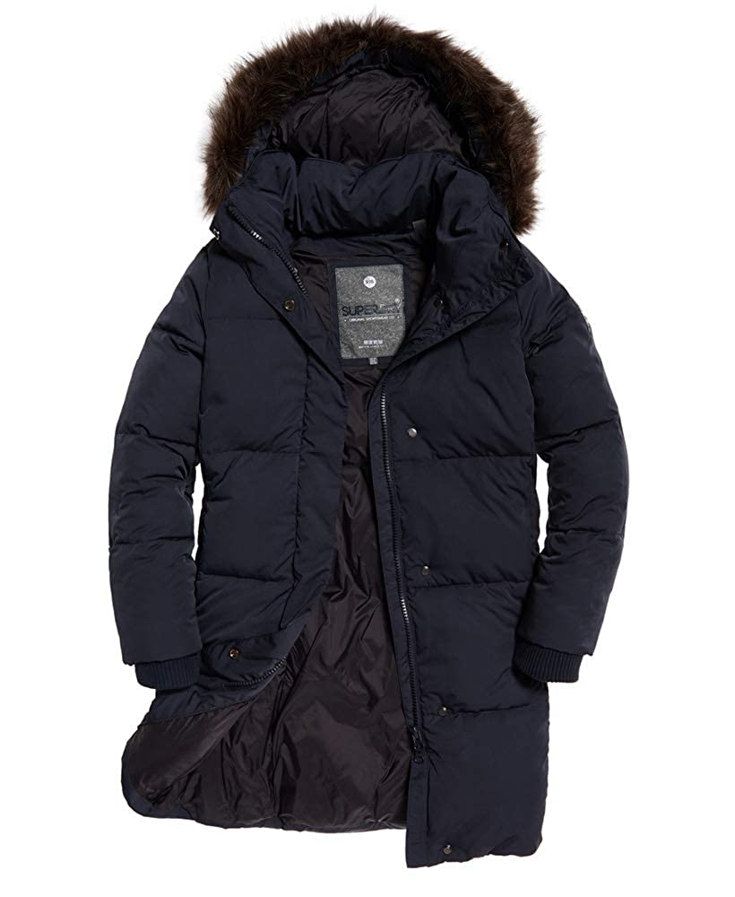 65705f543 Womens Cocoon Parka Super Dark Navy