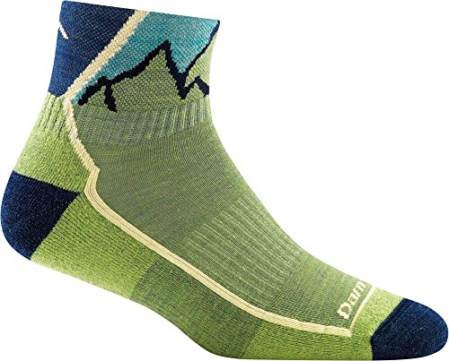 Trail Junior Socks (Darn Tough Hiker Junior 1/4 Cushion Sock - Kid's Green Large)