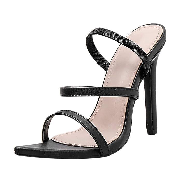 8473a31ce7bde Amazon.com: YEZIJIN Women's Ladies Fashion Pointed Toe Thin Heel ...
