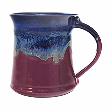 Clay In Motion Handmade Ceramic Medium Mug 16oz - Purple Passion